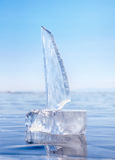Ice yacht on winter Baical Stock Images