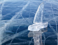 Ice yacht on winter Baical Royalty Free Stock Image