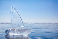 Ice yacht on winter Baical Stock Image