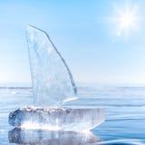 Ice yacht on winter Baical Royalty Free Stock Photos