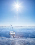 Ice yacht on winter Baical Royalty Free Stock Photo