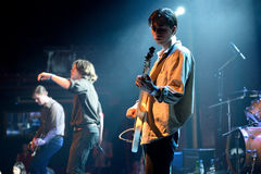Iceage (punk rock band) in concert at Apolo stage Primavera Sound 2015 Royalty Free Stock Photos
