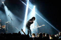 Iceage (punk rock band) in concert at Apolo stage Primavera Sound 201 Stock Image