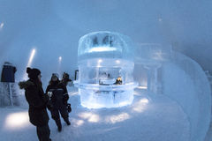Icebar dans Icehotel Photo stock