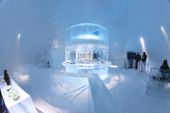 Icebar in Icehotel Immagini Stock