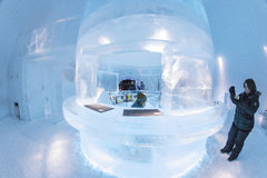 Icebar in Icehotel Royalty Free Stock Photo