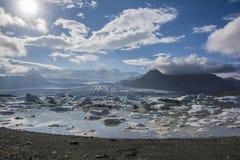 Iceberg湖, Jokulsarlon 免版税库存图片