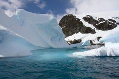 Iceberg. In Paradise Bay, Antarctica Stock Photos
