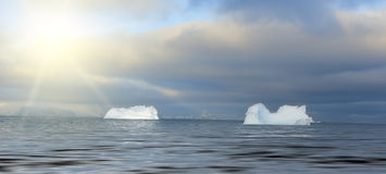 Iceberg. Some icebergs in an antarctic Royalty Free Stock Photo