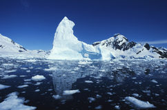 Iceberg. In the arctic sea