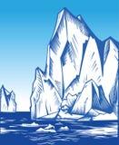 Iceberg. Vector Illustration of iceberg in the ocean Royalty Free Stock Image