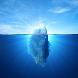 Iceberg. Under water and above water
