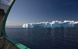 Iceberg. Seen from ship bow in the Arctic Stock Images