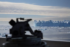 Iceberg. Seen from ship bow in the Arctic Stock Photos