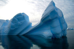 Iceberg. Blue iceberg with rounded shape Stock Images