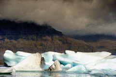 Iceberg. At the iceland with heavy clouds Stock Photography