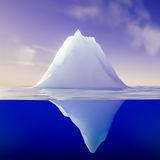 Iceberg. 3d rendering of an iceberb Royalty Free Stock Images