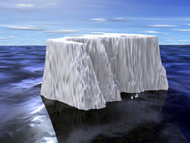 Iceberg. With water shadow on calm sea Stock Photo