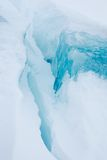 Iceberg. Close up on a blue part of an iceberg, Greenland stock image