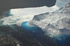 Iceberg. Aerial view of a large southern iceberg Stock Image