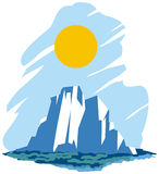 ICEBERG. Vector illustration of a iceberg Royalty Free Stock Image