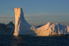 Iceberg. Color at sunset Stock Photos