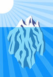 Iceberg. Vector illustration of iceberg floating in water Royalty Free Stock Image