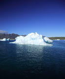 Iceberg against a blue sky. Jokulsarlon lagoon Iceland Royalty Free Stock Images