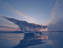 Iceberg-aircraft carrier Stock Image