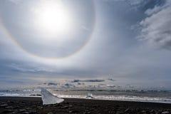 Iceberg alla laguna del ghiacciaio Fotografie Stock