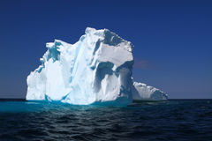 On Iceberg Alley already losses part of its ice mass Stock Image