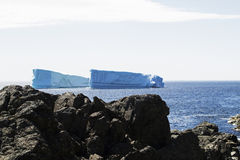 Iceberg Alley. Iceberg at Fishing Point, St. Anthony NL royalty free stock photos