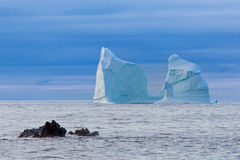 Iceberg. Along the coast of Newfoundland Royalty Free Stock Image