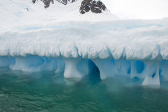 Iceberg in Antarctic ocean Stock Images