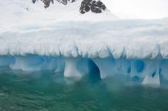 Iceberg in Antarctic ocean stock images