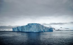 Iceberg in Antarctica. Huge tabular iceberg in Antarctica Royalty Free Stock Image