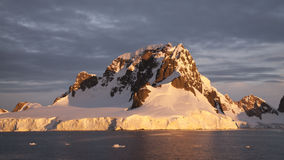 Iceberg in Antarctica. Cruised around the icebergs in Antarctica by the zodiac boat stock image