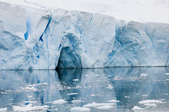 Iceberg in Antarctica with reflects Royalty Free Stock Photography