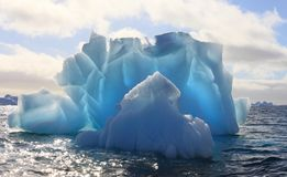 Iceberg in Antartide fotografia stock