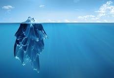 Iceberg arriba y abajo stock de ilustración