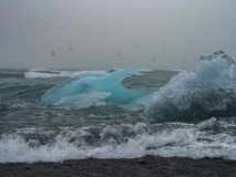Iceberg on Atlantic coasts Stock Photos