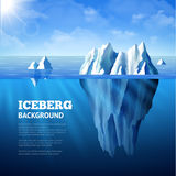 Iceberg Background Illustration Royalty Free Stock Photos