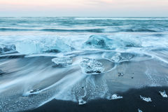 Iceberg beach Iceland Stock Images