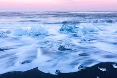 Iceberg beach Iceland Royalty Free Stock Images