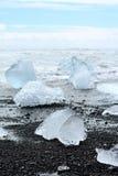 Iceberg on the beach Royalty Free Stock Image