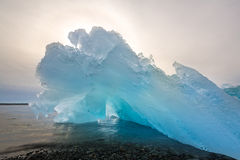 Iceberg beach Jokulsarlon Iceland Stock Photo