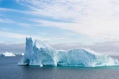 Iceberg. Beautiful iceberg with gate in Greenland royalty free stock image