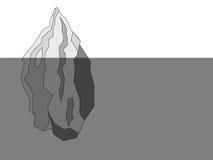 Iceberg black and white polygon background Stock Photo