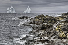 Iceberg, Cape Spear, Newfoundland Stock Image