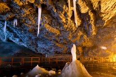 Iceberg cave Royalty Free Stock Photo